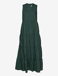 Sleeveless Tiered Maxi Dress - maxi dresses - olive 005