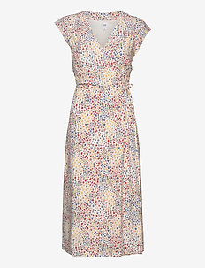 Wrap-Front Midi Dress - wrap dresses - multi floral