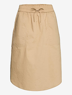 Pull-On Skirt in Poplin - midi skirts - new sand