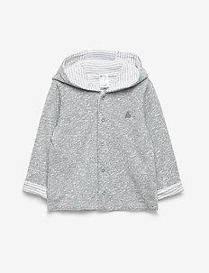 Baby Favorite Reversible Bear Hoodie Sweatshirt - hoodies - light grey marle