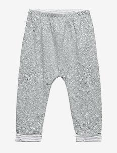 Baby Favorite Reversible Pants - spodnie dresowe - light grey marle