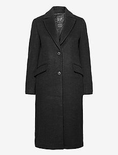 Wool Topcoat - trenchcoats - true black