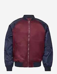 TB LTWT LOGO BOMBER - bomber jackets - pinot noir 796
