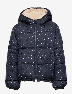 Kids ColdControl Max Reversible Puffer - puffer & padded - navy uniform dots