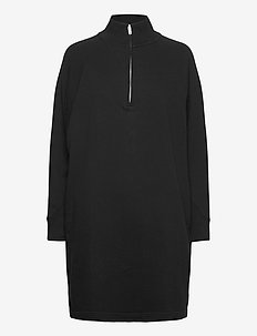 Half-Zip Front Dress - robes midi - true black v2 2