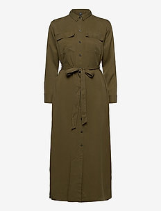 LS DRAPEY SHRTDRS - shirt dresses - ripe olive