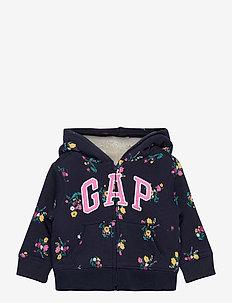 V-PRT CZY LOGO FZ - hoodies - navy floral
