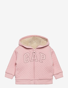 QUILTED COZY LOGO FZ - hoodies - pure pink