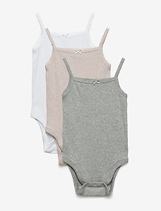 Baby First Favorite Picot Trim Bodysuit (3-Pack) - PINK HEATHER