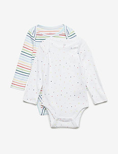 Baby First Favorite Long Sleeve Bodysuit (3-Pack) - manches longues - multi stripe