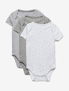 Baby First Favorite Short Sleeve Bodysuit (3-Pack) - langärmelig - light heather grey b10