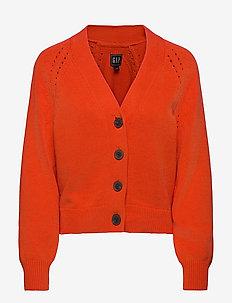 Slouchy Cardigan - cardigans - grenadine orange 721