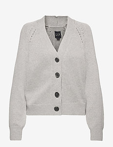 Slouchy Cardigan - cardigans - light heather grey