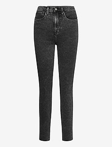Sky High Rise True Skinny Jeans with Secret Smoothing - skinny jeans - acid wash