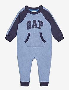 Baby Gap Logo One-Piece - długi rękaw - indigo heather b0821