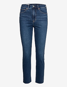 High Rise Cigarette Jeans with Secret Smoothing Pockets - slim jeans - dark indigo 10