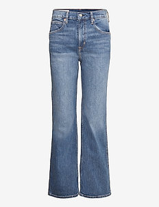 High Rise Vintage Flare Jeans With Washwell™ - brede jeans - medium indigo 8