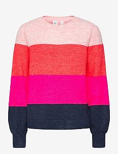 Kids Stripe Crewneck Sweater - dzianinowe - multi stripe