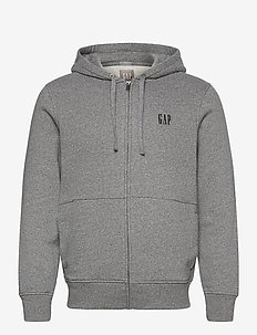 MICRO LOGO FZ HD - basic sweatshirts - charcoal heather