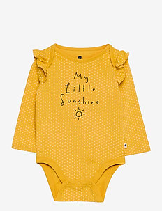 Baby Mix and Match Printed Bodysuit - long-sleeved - yellow sundown