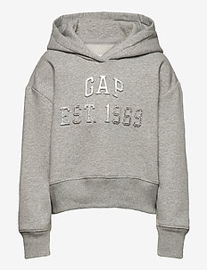 Kids Embossed Gap Logo Hoodie - hupparit - light heather grey
