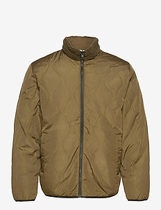 Reversible Fleece Jacket - basic-sweatshirts - ripe olive
