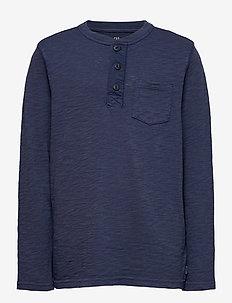Kids Henley T-Shirt - lange mouwen - tapestry navy