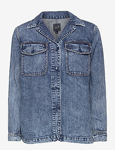 Denim Shirt Jacket - spijkerjassen - medium indigo 20