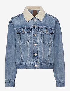 Dolman Denim Sherpa Icon Jacket - vestes en jean - medium indigo 8