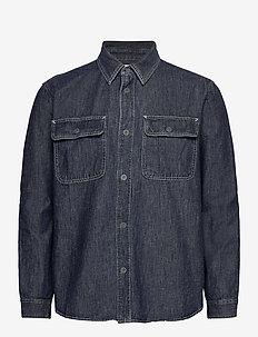 Denim Worker Shirt in Standard Fit - basic skjortor - resin rinse 063