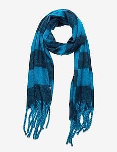 Brushed Scarf - scarves - arcticblue navy stripe