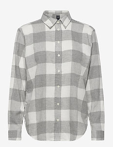 Everyday Flannel Shirt - long-sleeved shirts - grey plaid