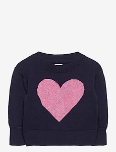 Toddler Heart Crewneck Sweater - strickmode - hearts