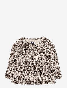 Toddler Mix and Match Bow Tunic - dlugi-rekaw - leopard print
