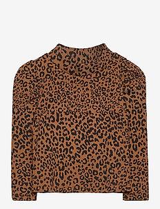 Toddler Turtleneck Shirt - lange mouwen - leopard print