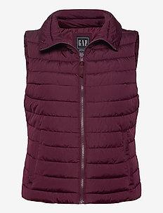 Upcycled Lightweight Puffer Vest - puffer vests - secret plum