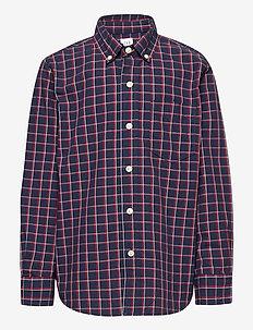 Kids Plaid Button-Up Shirt - dlugi-rekaw - tapestry navy