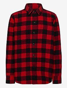 Kids Flannel Shirt - lange mouwen - red buffalo plaid