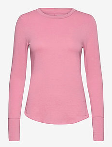 Feather T-Shirt - long-sleeved tops - elle pink 264