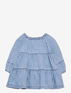 Baby Denim Tiered Dress - dresses - denim 616
