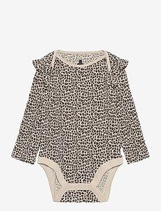Baby Mix and Match Ruffle Bodysuit - długi rękaw - new sly stone v2