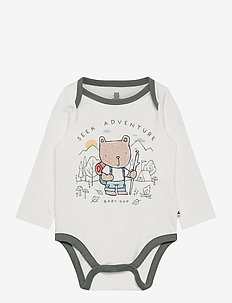 Baby Mix and Match Graphic Bodysuit - long-sleeved - new off white