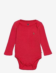 Baby Mix and Match Bodysuit - långärmat - modern red 2