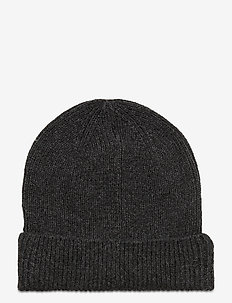 Rib Beanie - kapelusze - charcoal grey b20