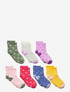 Kids Assorted Print Crew Socks (7-Pack) - skarpetki - multi