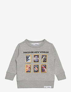 babyGap | National Geographic Crewneck Sweatshirt - bluzy - light heather grey b08