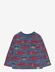 Toddler Mix and Match Printed T-Shirt - langärmelige - blue heather