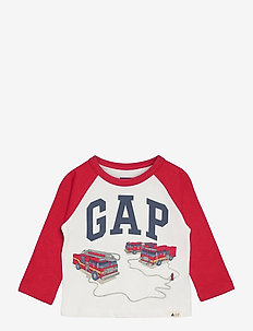 Toddler Mix and Match Gap Logo Graphic Shirt - langärmelige - new off white
