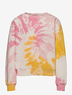 Kids Tie-Dye Crewneck Sweatshirt - sweatshirts - pink multi tie dye