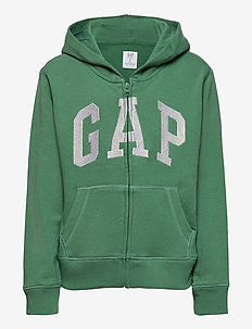 IE FT BASIC ARCH FZ - hoodies - arctic green 612